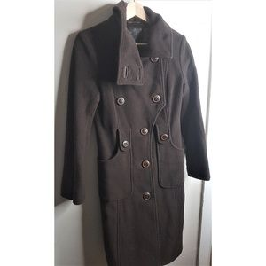 Mackage Chocolate Brown Wool Coat